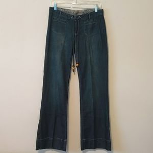Lucky Brand Mid Rise Easy Fit Wide Leg Jeans